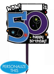 The Party Continues 50th Birthday Yard Sign 14in x 15in