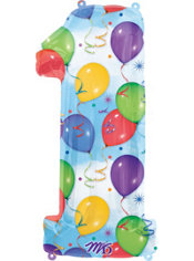 Number 1 Celebration Foil Balloon 34in