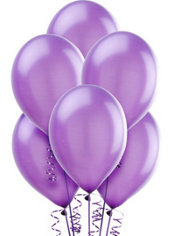 Pearlized Hydrangea Latex Balloons 12in 10ct