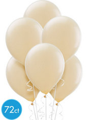 Vanilla Cream Latex Balloons 12in 72ct