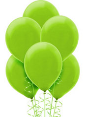 Kiwi Green Latex Balloons 12in 15ct