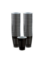 Black Plastic Cups 50ct