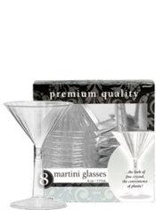 CLEAR Premium Plastic Martini Glasses 8ct