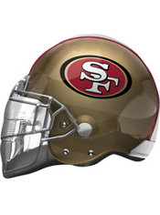 San Francisco 49ers Helmet Foil Balloon 26in
