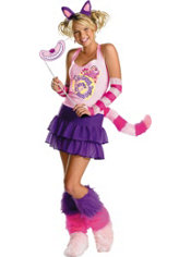 Girls Sassy Cheshire Cat Costume