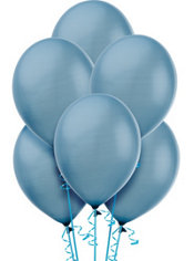 Powder Blue Pearlized Latex Balloons 12in 72ct