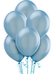 Pearl Powder Blue Latex Balloons 12in 10ct