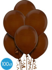 Chocolate Brown Latex Balloons 12in 100ct
