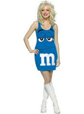 Adult Blue M&M Dress Costume