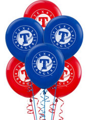Texas Rangers Latex Balloons 12in 6ct