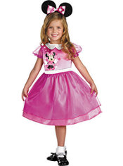 Toddler Girls Basic Pink Minnie Mouse Costume