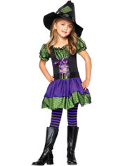 Toddler Girls Hocus Pocus Witch Costume