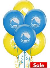 Golden State Warriors Latex Balloon 12in 6ct