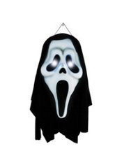 Light-Up Ghost Face Door Decoration 23in