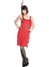 Adult Red Flapper Dress