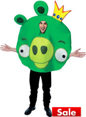 Adult King Pig Costume - Angry Birds