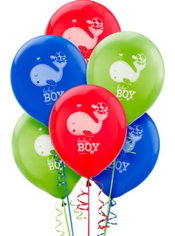 Ahoy Baby Boy Latex Balloons 15ct