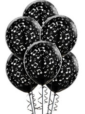 Musical Notes Latex Balloons 12in 6ct