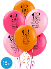 Latex Minnie Mouse 1st Birthday Balloons 15ct