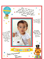 1st Birthday Fisher-Price Circus Autograph Photo Mat