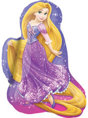Foil Rapunzel Balloon  34in - Tangled