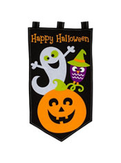 quick shop cute halloween banner - Halloween Window Clings
