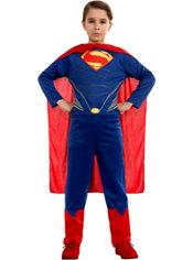 Child Man of Steel Superman Action Suit Costume