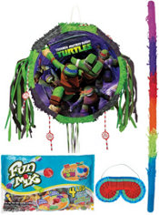 Pull String Teenage Mutant Ninja Turtles Pinata Kit