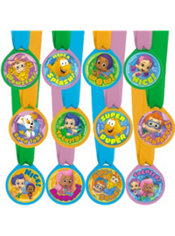 Bubble Guppies Award Medals 12ct Party City