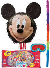 Pull String Smiling Mickey Mouse Pinata Kit