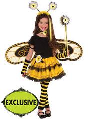 Girls Bumblebee Fairy Costume