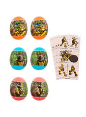 Teenage Mutant Ninja Turtles Sticker Easter Eggs 6ct