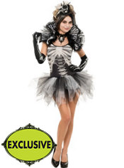 Adult Dancing Black & Bone Skeleton Costume