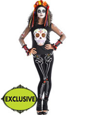 Adult Floral Day of the Dead Costume