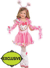 Girls Fairy Hello Kitty Costume