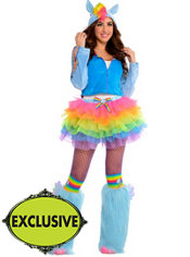 Adult Flirty Rainbow Dash Costume - My Little Pony