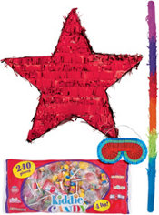 Foil Red Star Pinata Kit