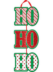 Glitter Stacked Ho Ho Ho Sign