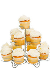 Silver Wire Cupcake Stand