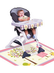 Girl 1st Birthday High Chair Decorating Kit 3pc - Happi Woodland