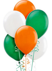 Green, White & Orange Balloons 20ct