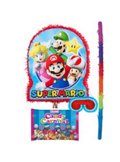 Pull String Super Mario Pinata Kit
