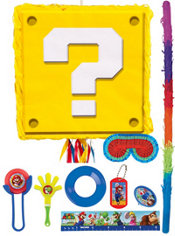 Question Block Pinata Kit with Favors - Super Mario