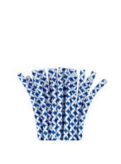 Royal Blue Diamond Flexible Paper Straws 24ct Party City