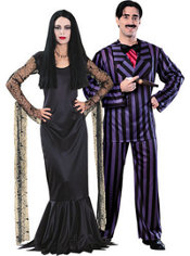 Morticia Addams and Gomez Addams Family Couples Costumes