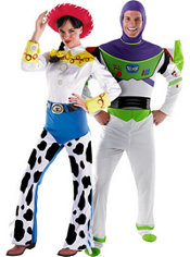 Deluxe Jessie and Buzz Lightyear Toy Story Couples Costumes