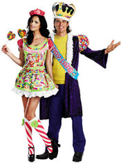 Deluxe Sassy Candyland and King of Candyland Couples Costumes