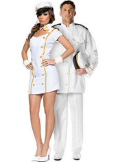 Sexy Admiral and Admiral Couples Costumes