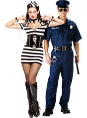 Lock Me Up Prisoner and Police Couples Costumes