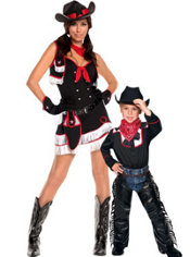 Cowboy and Cowgirl Mommy and Me Costumes